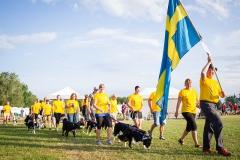 Team Sweden marching at the closing ceremony of European Open 2014, Hungary (c) Jukka Pätynen Koirakuvat.fi